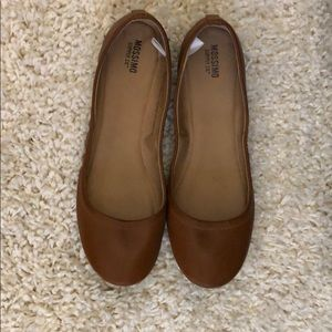 Brown Leather Flats (never worn)